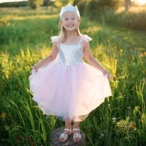 robe princesse rose sequin