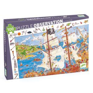 puzzle d'observation pirates djeco