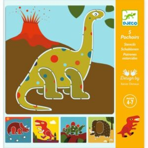pochoirs dinosaures djeco
