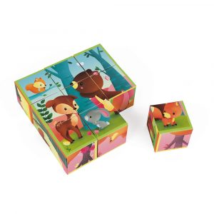 9 cubes animaux de la forêt
