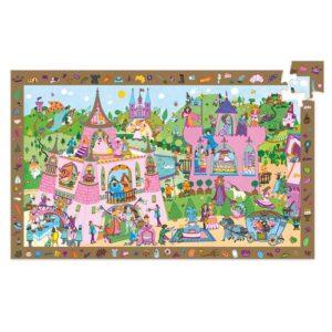 puzzle d'observation princesse 54 pièces djeco