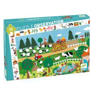 puzzle d'observation la ferme djeco