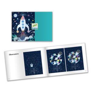 cartes a gratter mission cosmique djeco