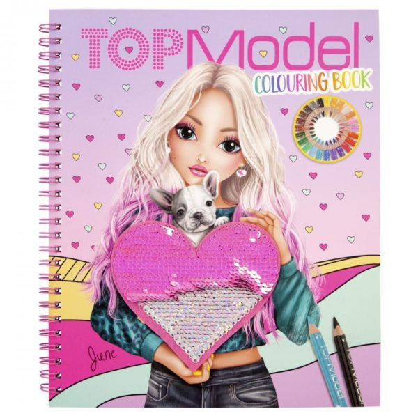 Album à colorier Top Model