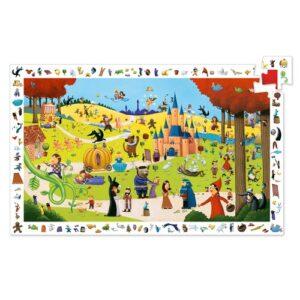 puzzle d'observation dans les contes djeco 54 pièces