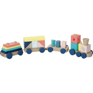 Voici le très joli train de cubes Sous la Canopée de la marque Vilac pour les enfants à partir de 18 mois. Un train de cubes en bois aux couleurs naturelles et acidulées pour stimuler l'éveil de bébé. Ce jouet en bois fait partie de la collection Sous la Canopée de Vilac. Ce train de cubes est une jolie idée de cadeau pour un petit garçon ou une petite fille ! La collection Sous la Canopée Sous la canopée, c'est une collection de jouets en bois de qualité, aux couleurs aux couleurs naturelles et acidulées pour accompagner les premiers apprentissages de votre enfant tout en douceur ! Cette collection Sous la Canopée est non genrée et s'adresse aussi bien aux filles qu'aux garçons avec des couleurs tendances : vous découvrirez sur les jouets de de jolis illustrations de feuilles d'arbres et de plumes d'oiseaux, mais aussi un charmant caméléon et un mignon petit panda.