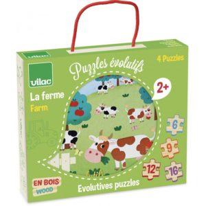 4 puzzles évolutifs la ferme vilac