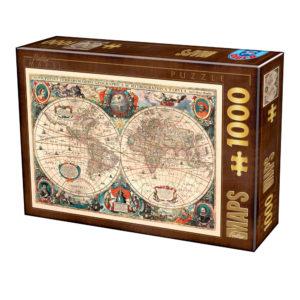 carte-du-monde-antique-puzzle-1000-pieces.76015-1.fs
