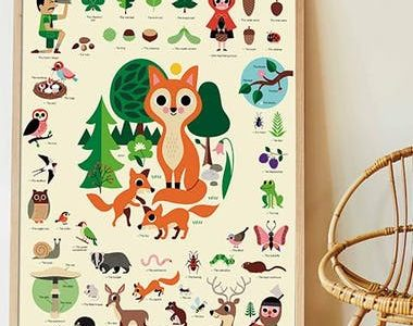 poster stickers foret