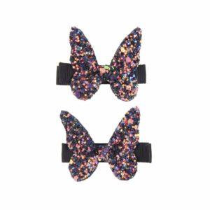 barrette paillette papillon
