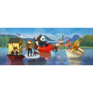 puzzle gallery summer lake djeco