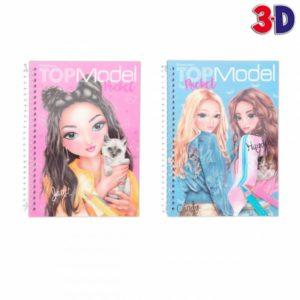 album de poche a colorier 3 D Top model