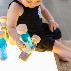 bouteille sensorielle float bleu