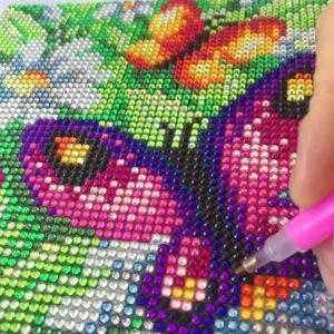 canevas a diamanter papillons et marguerites art et creations