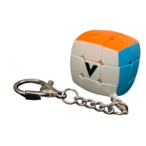 porte clé V cube bombé
