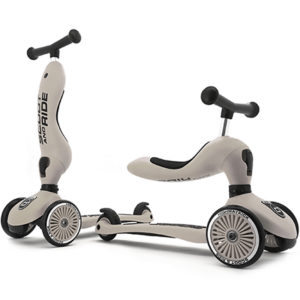 porteur evolutif en trotinette beige scoot and ride