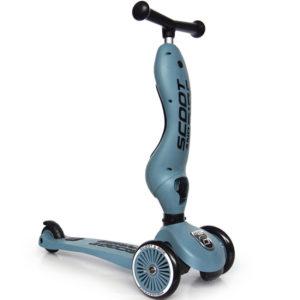 porteur évolutif en trotinette scoot and ride bleu