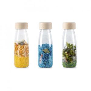 3 bouteilles sensorielles pack nature