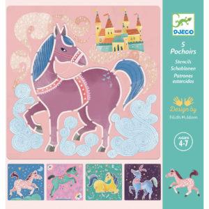 pochoirs chevaux djeco