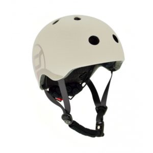 casque de protection beige scoot and ride