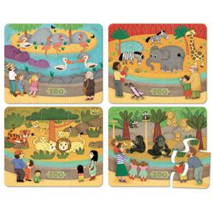 puzzle bois animaux du zoo vilac
