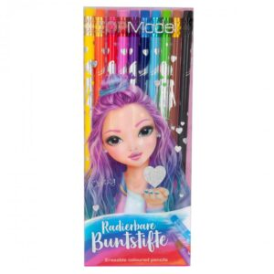top model crayons de couleurs gommables