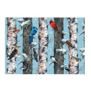 puzzles les oiseaux en hiver