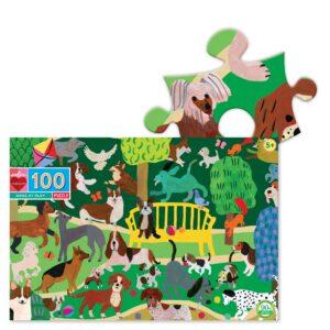 puzzle chiens jouant eeboo