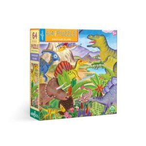 puzzle eeboo l'île des dinosaures
