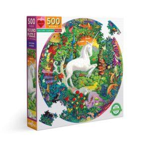 puzzle rond unicorn garden eeboo