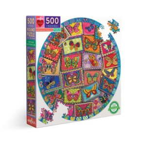 puzzle eeboo rond vintage butterfly