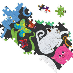 PUZZLE ROND CATS AT WORK EEBOO