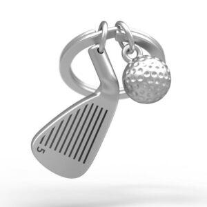 porte cles golfer metalmoprhose