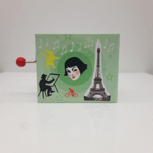 """Venez découvrir la boite musicale """"La valse d'Amélie """" signée Protocol. Laissez-vous emporter par la magie de la mélodie du film """"le fabuleux destin d'Amelie Poulain"""" qui sort de cette boîte musicale."""