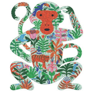 puzz art monkey 350 pieces djeco
