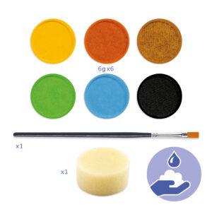 palette de maquillage 6 couleurs natures