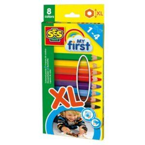 8 crayons de couleurs ses creative