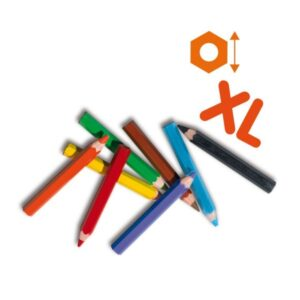 8 crayons de couleurs xl ses creative