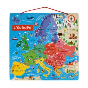 carte-d-europe-magnetique-bois 4