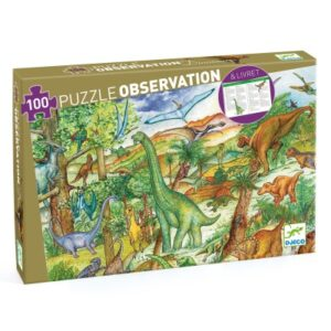 puzzle d'observation dinosaures djeco